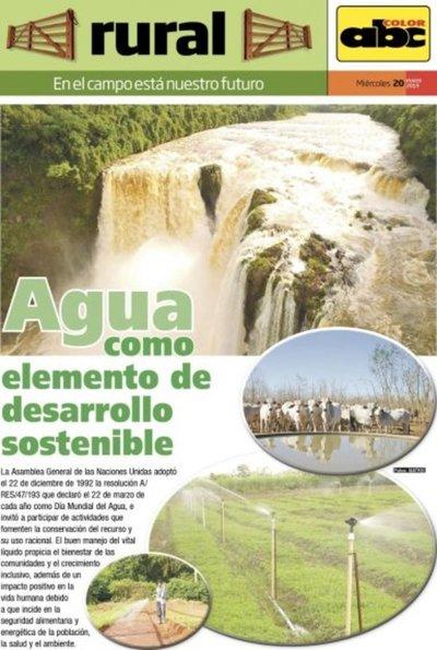 Agua como elemento de desarrollo sostenible