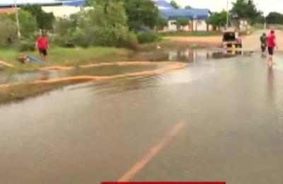 Trabajos para evitar inundaciones en Capiatá