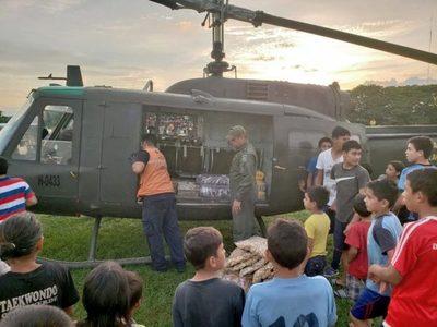 SEN inicia puente aéreo para entrega de asistencia en Paso Barreto