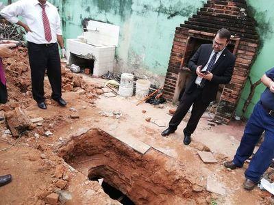 Restos óseos hallados en fosa no eran humanos