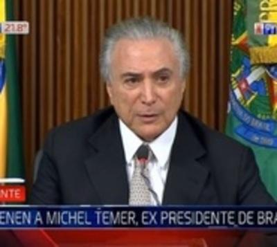 Detienen al expresidente de Brasil por el caso Lava Jato