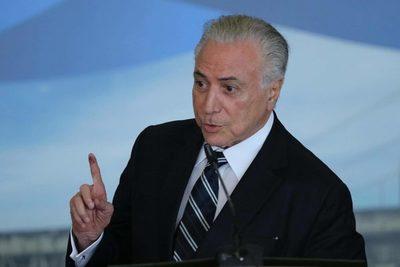 Autoridades de Brasil detienen al expresidente Michel Temer