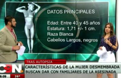 C9N: Detallamos características del cuerpo de la mujer desmembrada en Ciudad del Este