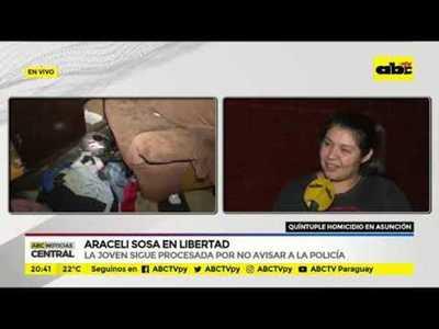 Araceli Sosa en libertad