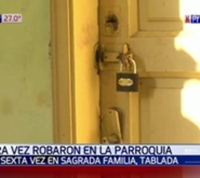 Por sexta vez, malvivientes roban una parroquia en Tablada Nueva