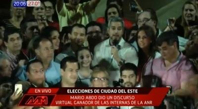 """Abdo Benítez celebra victoria de su candidato y destaca el """"cambio"""""""