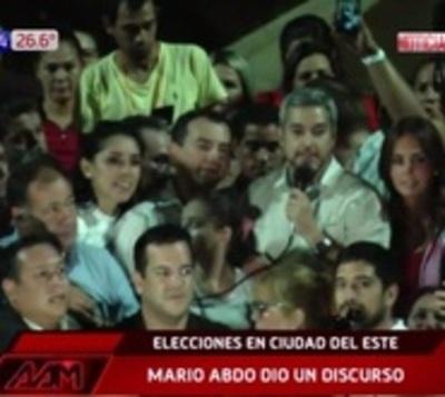 """Mario Abdo: """"El Este salió a hablar libremente y habló fuerte"""""""
