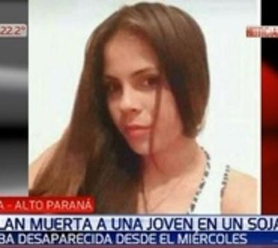 Hallan muerta a mujer en un sojal de Alto Paraná