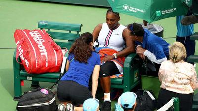 Serena Williams se retira con lesión de rodilla