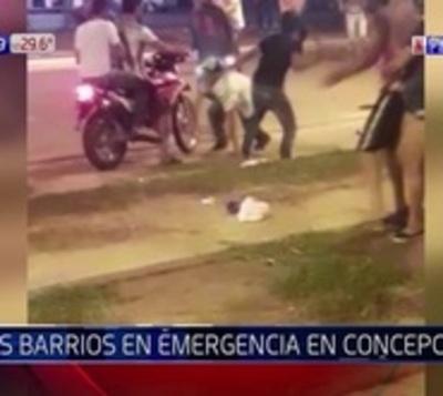 Batalla campal entre jóvenes en pleno centro de Concepción