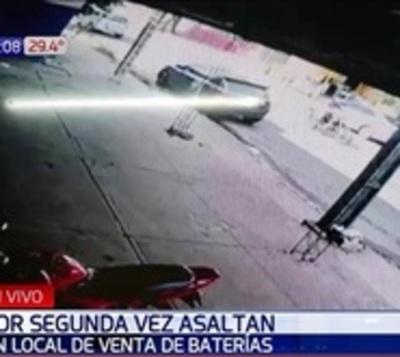 Asaltan comercio por segunda en el mes en Fernando de la Mora