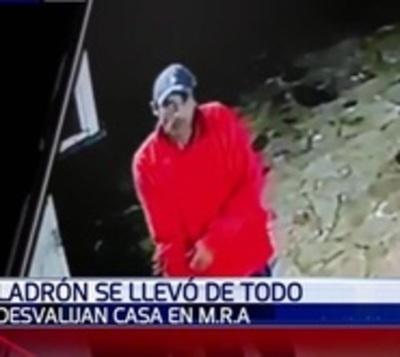 Delincuente robó objetos de una casa por valor de G. 25 millones