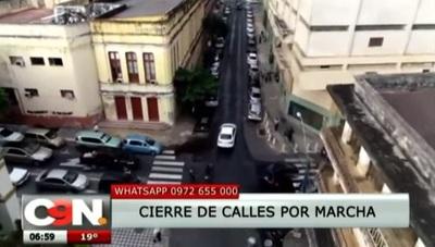 PMT anuncia cierre de calles en el microcentro por marcha