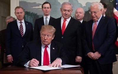 Donald Trump reconoció por decreto la soberanía israelí en los Altos del Golán