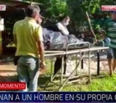 Asesinan de 20 balazos a hombre mientras dormía