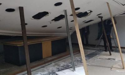 Cae techo de la sala de Juicios Orales del Poder Judicial de Coronel Oviedo – Prensa 5