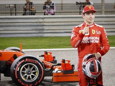 Charles Leclerc firma en Bahréin su primera 'pole' en F1