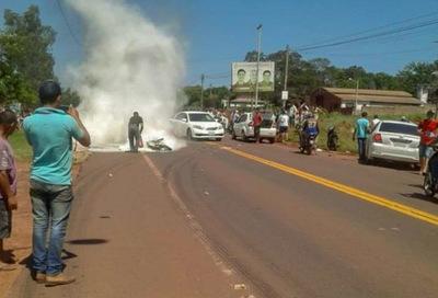 Yby Yaú: Motociclista muere en accidente rutero