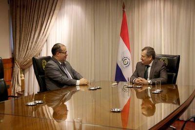 Titular de la CSJ se reunió con embajador de la OEA