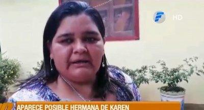 Aparece mujer que podría ser hermana de Karen