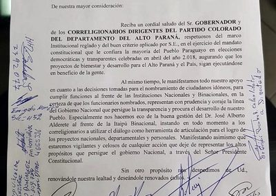 """Horas después de una protesta organizada por   él, Vaesken se retracta y """"apoya"""" a Alderete"""