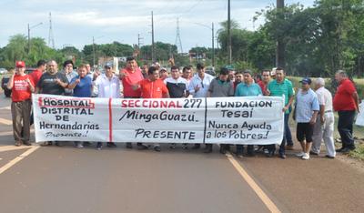 """Protesta pro """"zoquete"""" en Itaipú"""