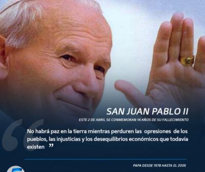 A 14 años de la muerte de San Juan Pablo II