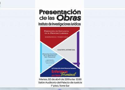 Presentarán varias obras en sede judicial de Asunción