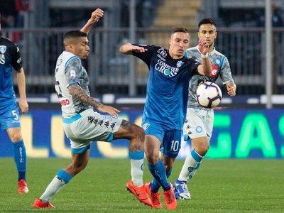 Napoli cae en Empoli y se queda a 18 puntos de Juventus