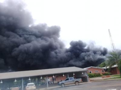 Incendio consume planta de la Cooperativa Chortitzer
