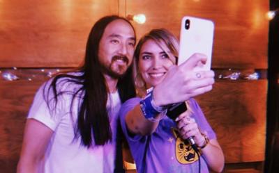 HOY / El reencuentro de Carmiña Masi con Steve Aoki