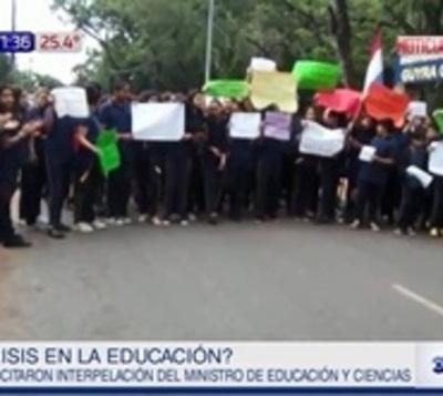 Crisis en la educación: Estudiantes exigen solución definitiva
