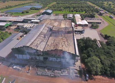 Cerca de un 50% de Frigochorti quedó destruido tras el siniestro