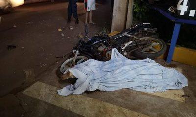 Motociclista muere tras ser atropellado por un vehículo en Ciudad del Este