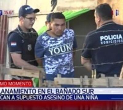 Capturan a implicados en muerte de niña de 8 años en Bañado Sur