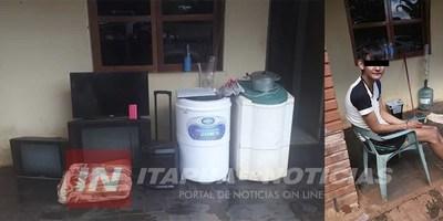 PROCEDIMIENTO POLICIAL RECUPERA VARIOS OBJETOS HURTADOS.
