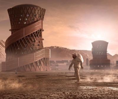 NASA presenta tres modelos de casas para vivir en Marte