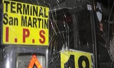 Nuevo ataque a buses de la empresa Lince – Prensa 5
