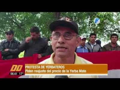 Protesta de yerbateros