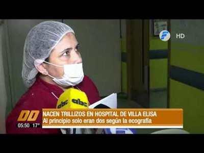 Nacen trillizos en Hospital de Villa Elisa