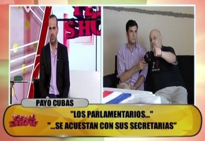 """Payo Cubas defenestra al congreso: """"Es el único prostíbulo que funciona de día"""""""
