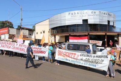 Alto Paraná: protestan para que no se privatice la salud pública