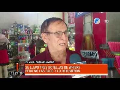 Salió de la cárcel y fue a robar tres botellas de whisky