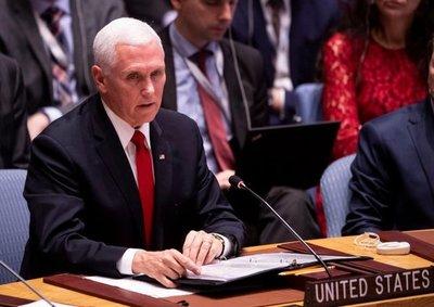 Pence pide a la ONU que reconozca a Guaidó como presidente de Venezuela
