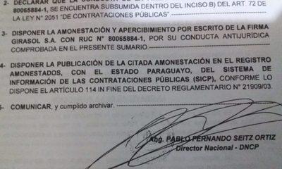 González Vaesken viola su propio pliego de bases   para ejecutar negociado con el almuerzo escolar