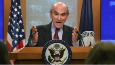 """""""Hay opciones militares, pero tenemos posición pacífica"""", dijo Abrams"""