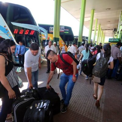 DINATRAN liberará horario de buses desde el martes santo