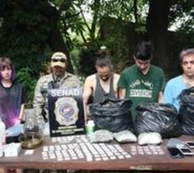 Desbaratan banda de traficantes de drogas en Asunción