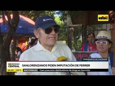 Sanlorenzanos piden imputación de Ferrer