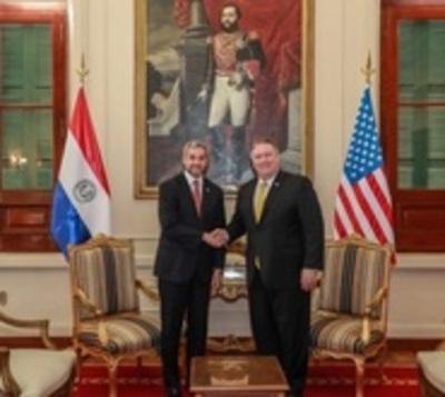 Secretario de Estado de EE.UU en reunión bilateral con Mario Abdo